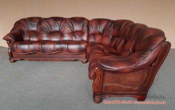 Угловой диван на деревянном каркасе